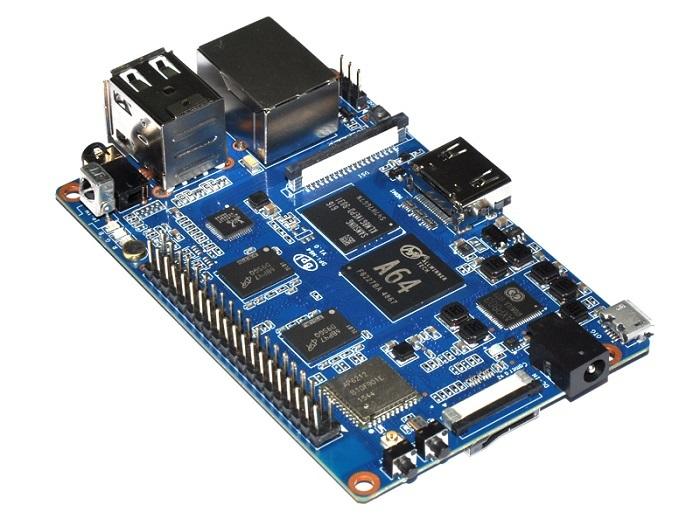 Основой платы Banana Pi BPI-M64 стала 64-битная SoC AllWinner