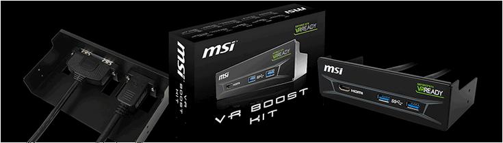 MSI представила модуль VR Boost Kit
