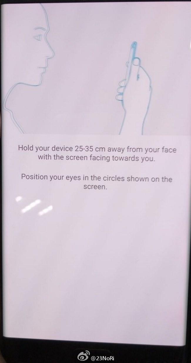Новые фотографии демонстрируют работу сканера радужной оболочки смартфона Samsung Galaxy Note7