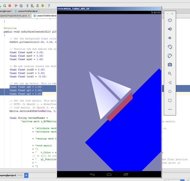 Изучаем OpenGL ES2 для Android Урок №2. Создание треугольников - 5
