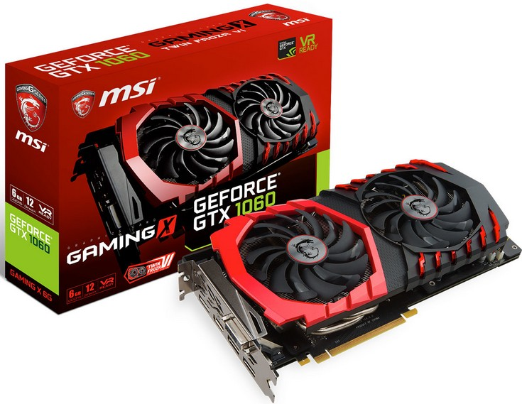 MSI представила видеокарты GeForce GTX 1060 6GT OC, GeForce GTX 1060 Gaming 6G, GeForce GTX 1060 Gaming X 6G, GeForce GTX 1060 Armor 6G и GeForce GTX 1060 Armor 6G OC