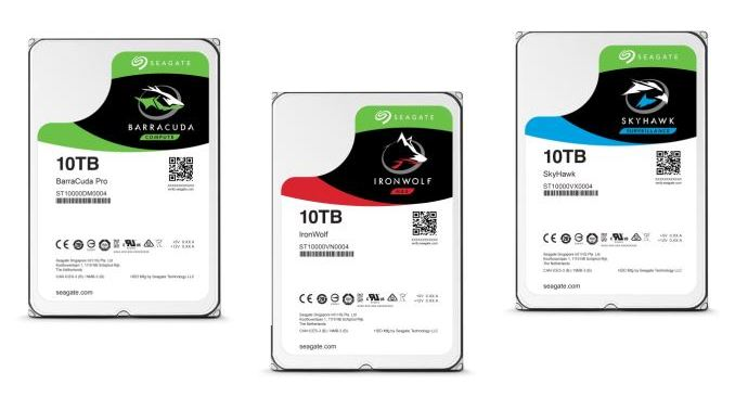 Seagate пополнила ассортимент 10-терабайтных HDD