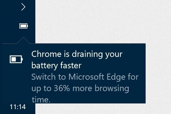 Windows 10 предупреждает пользователей Chrome и Firefox о повышенном потреблении энергии - 1