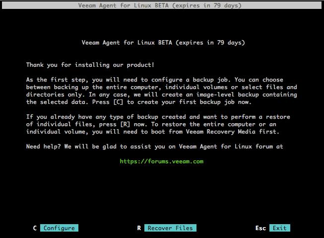 Знакомство с Veeam Agent for Linux - 1