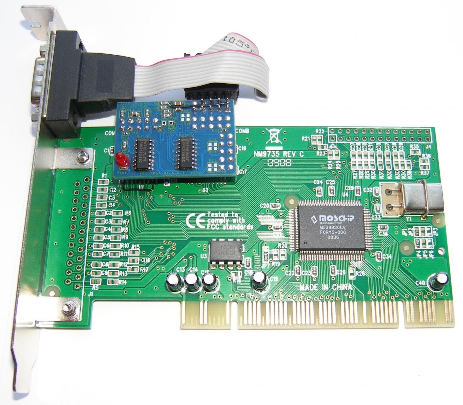 Адаптеры сопряжения RS-422 с поддержкой скоростей до 1Мбод для системной шины PCI - 23