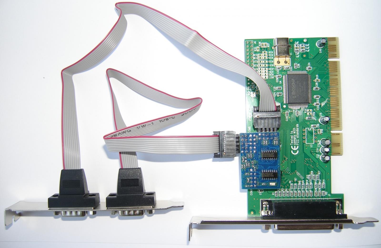 Адаптеры сопряжения RS-422 с поддержкой скоростей до 1Мбод для системной шины PCI - 24