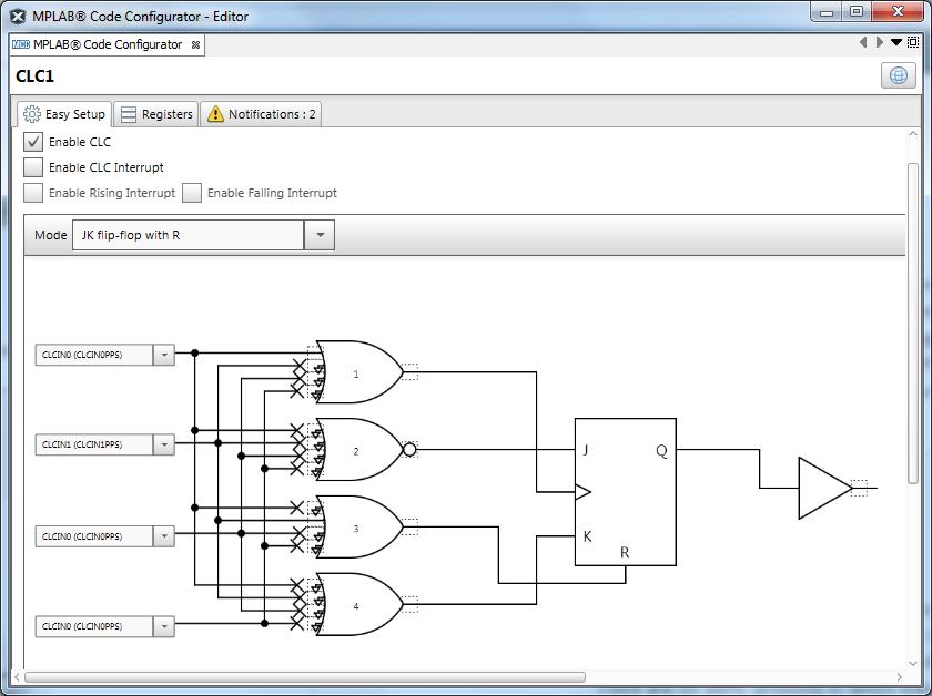 Конфигурируемые логические ячейки в PIC микроконтроллерах - 45
