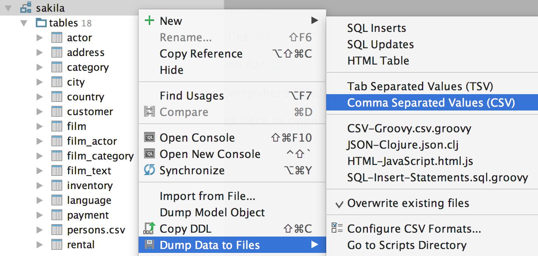 Релиз DataGrip 2016.2: Импорт CSV, поддержка JSON и XML в строках, динамический SQL, улучшения для PostgreSQL - 22