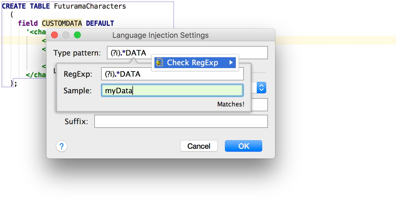 Релиз DataGrip 2016.2: Импорт CSV, поддержка JSON и XML в строках, динамический SQL, улучшения для PostgreSQL - 7