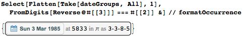 Даты среди цифр числа Пи: некоторые мысли с позиции статистики и нумерологии - 41