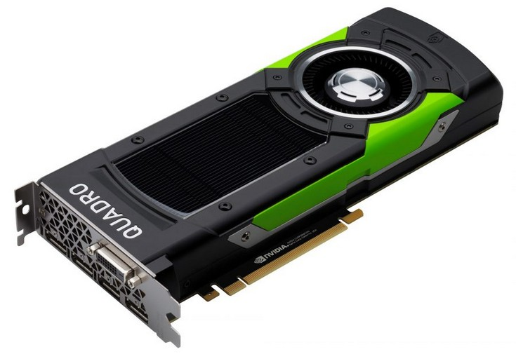 Nvidia готовит ускорители Quadro P5000 и P6000