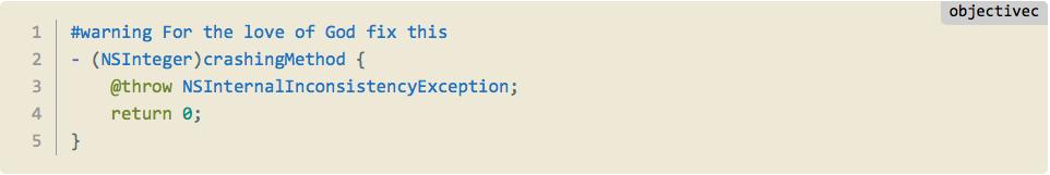 Как отметить свои TODO, FIXME и ERROR в Xcode - 3