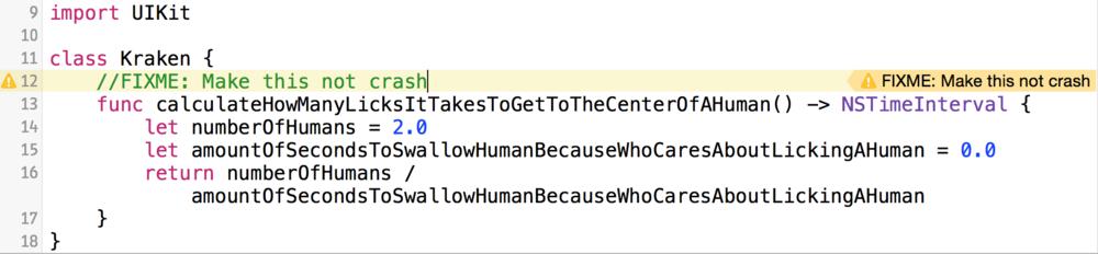 Как отметить свои TODO, FIXME и ERROR в Xcode - 6