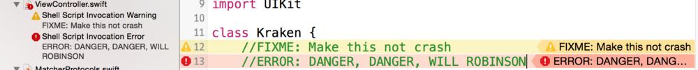 Как отметить свои TODO, FIXME и ERROR в Xcode - 7