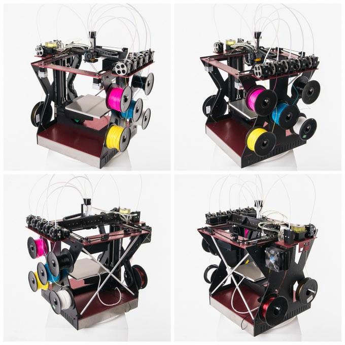 По словам разработчиков, RoVa4D — самый доступный полноцветный 3D-принтер