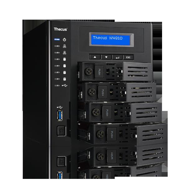Сетевое хранилище Thecus N4810 поддерживает массивы объемом до 40 ТБ - 1