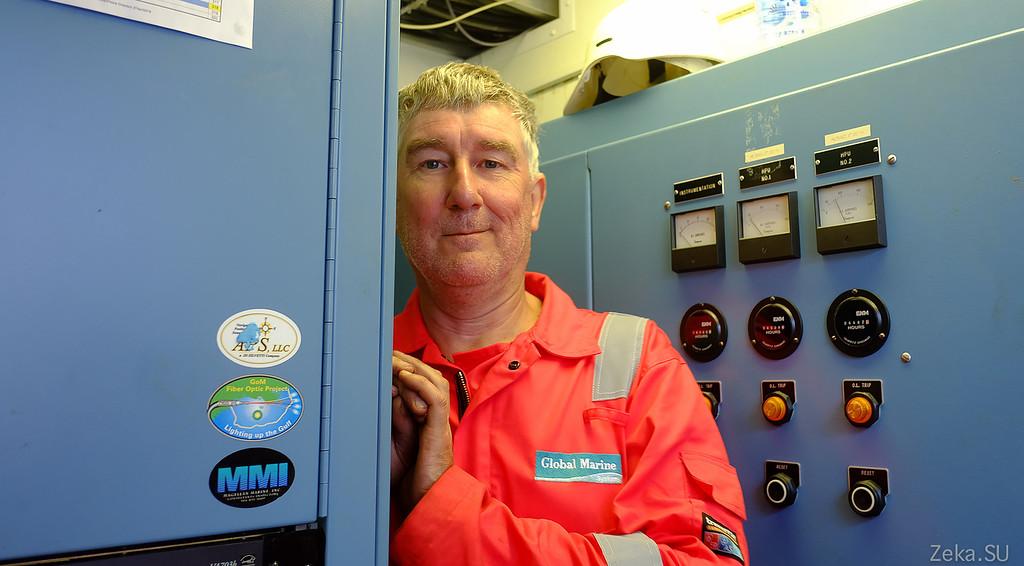 Строительство линии связи Камчатка – Сахалин – Магадан. Экскурсия на Cable Innovator — судно-кабелеукладчик - 101