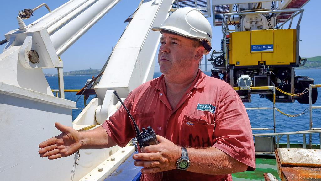 Строительство линии связи Камчатка – Сахалин – Магадан. Экскурсия на Cable Innovator — судно-кабелеукладчик - 102