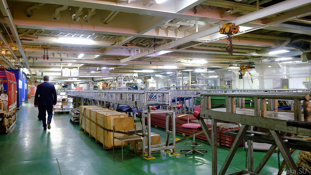 Строительство линии связи Камчатка – Сахалин – Магадан. Экскурсия на Cable Innovator — судно-кабелеукладчик - 43
