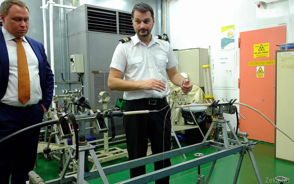 Строительство линии связи Камчатка – Сахалин – Магадан. Экскурсия на Cable Innovator — судно-кабелеукладчик - 49