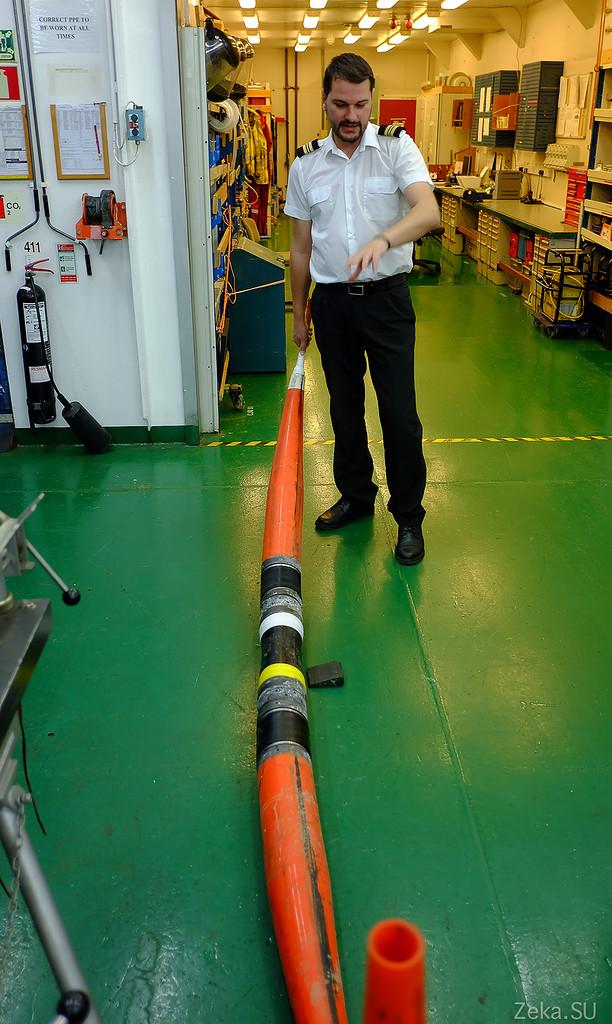 Строительство линии связи Камчатка – Сахалин – Магадан. Экскурсия на Cable Innovator — судно-кабелеукладчик - 55
