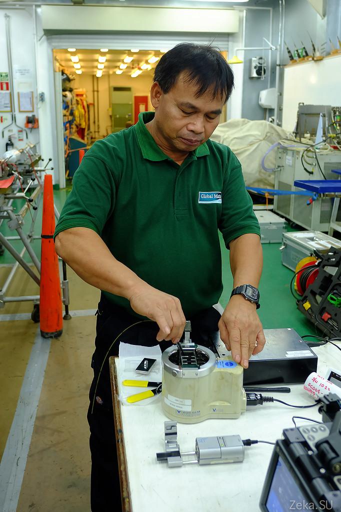 Строительство линии связи Камчатка – Сахалин – Магадан. Экскурсия на Cable Innovator — судно-кабелеукладчик - 58