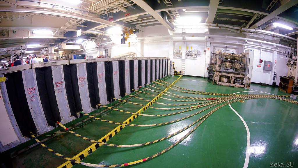 Строительство линии связи Камчатка – Сахалин – Магадан. Экскурсия на Cable Innovator — судно-кабелеукладчик - 64