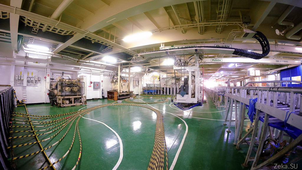 Строительство линии связи Камчатка – Сахалин – Магадан. Экскурсия на Cable Innovator — судно-кабелеукладчик - 67