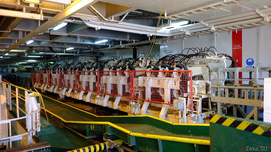 Строительство линии связи Камчатка – Сахалин – Магадан. Экскурсия на Cable Innovator — судно-кабелеукладчик - 69