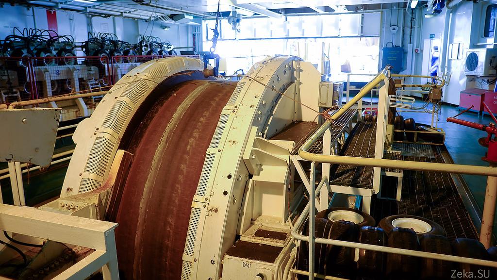 Строительство линии связи Камчатка – Сахалин – Магадан. Экскурсия на Cable Innovator — судно-кабелеукладчик - 71