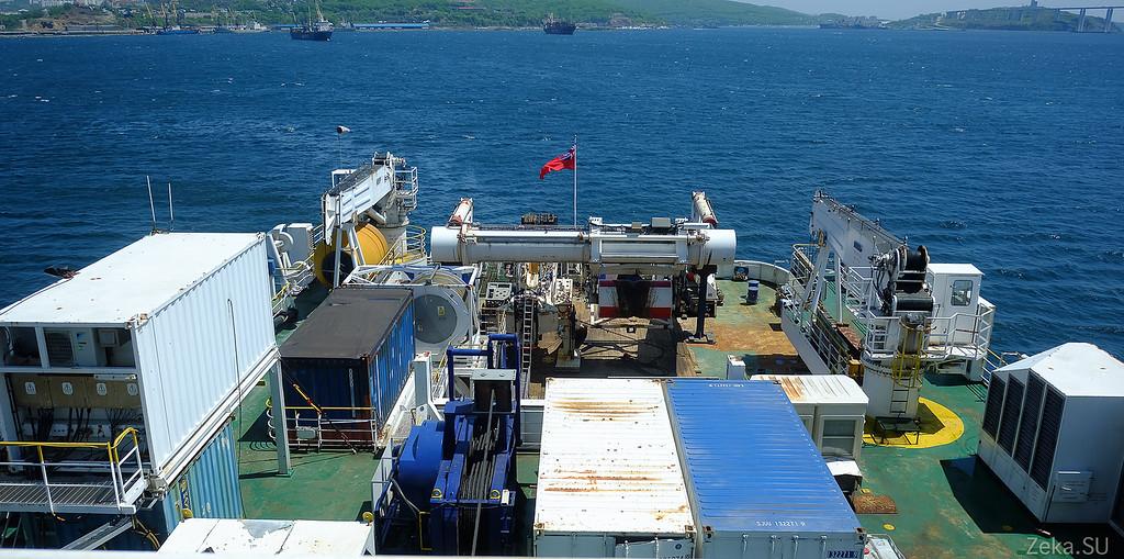 Строительство линии связи Камчатка – Сахалин – Магадан. Экскурсия на Cable Innovator — судно-кабелеукладчик - 75
