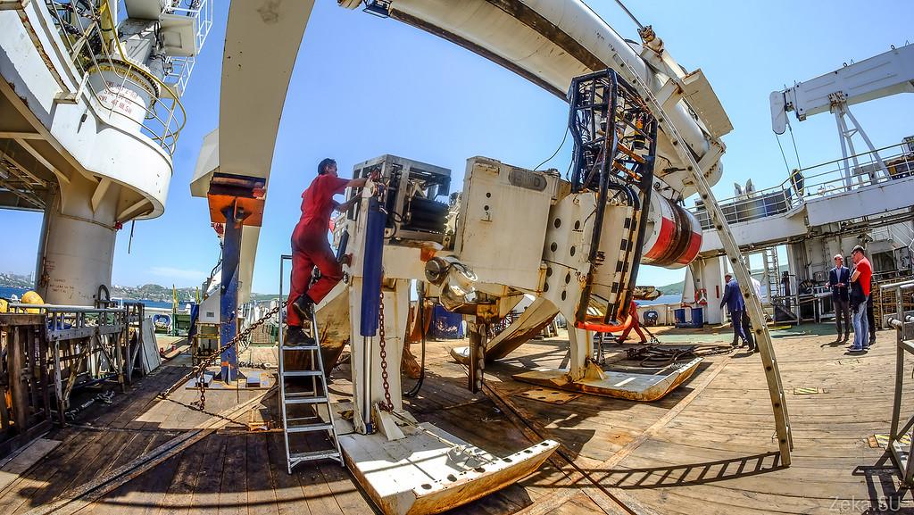Строительство линии связи Камчатка – Сахалин – Магадан. Экскурсия на Cable Innovator — судно-кабелеукладчик - 78