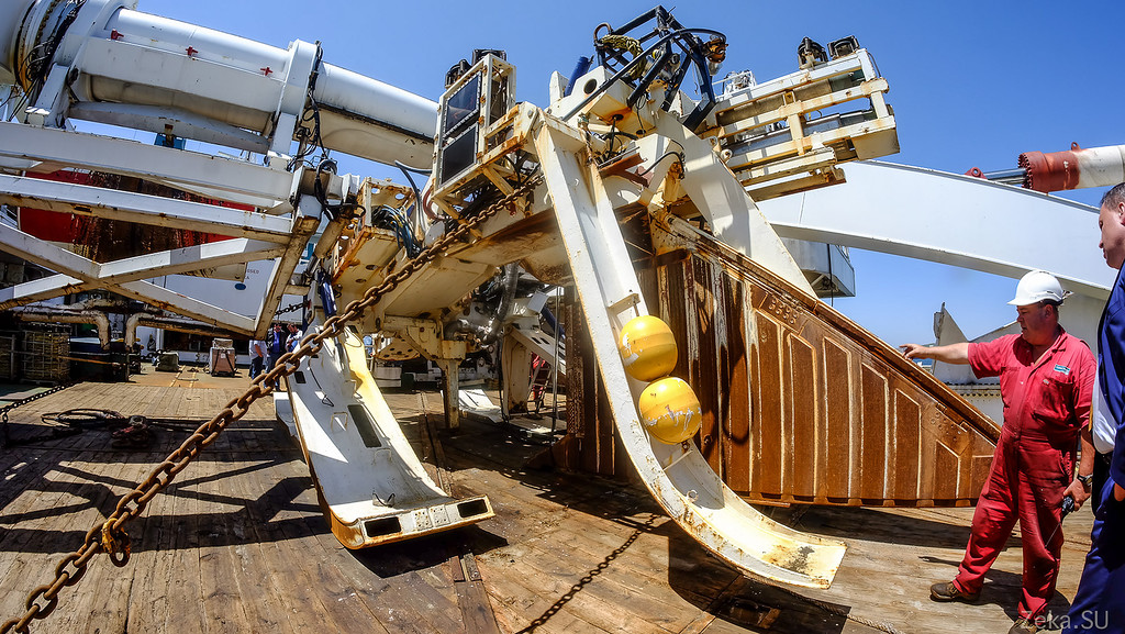 Строительство линии связи Камчатка – Сахалин – Магадан. Экскурсия на Cable Innovator — судно-кабелеукладчик - 80