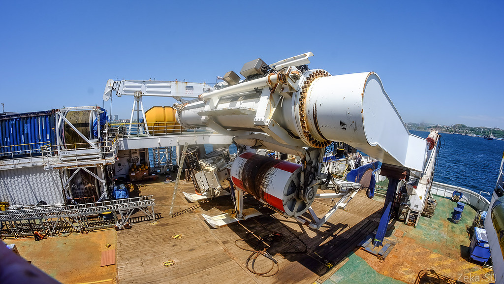 Строительство линии связи Камчатка – Сахалин – Магадан. Экскурсия на Cable Innovator — судно-кабелеукладчик - 84