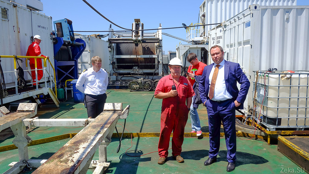 Строительство линии связи Камчатка – Сахалин – Магадан. Экскурсия на Cable Innovator — судно-кабелеукладчик - 87