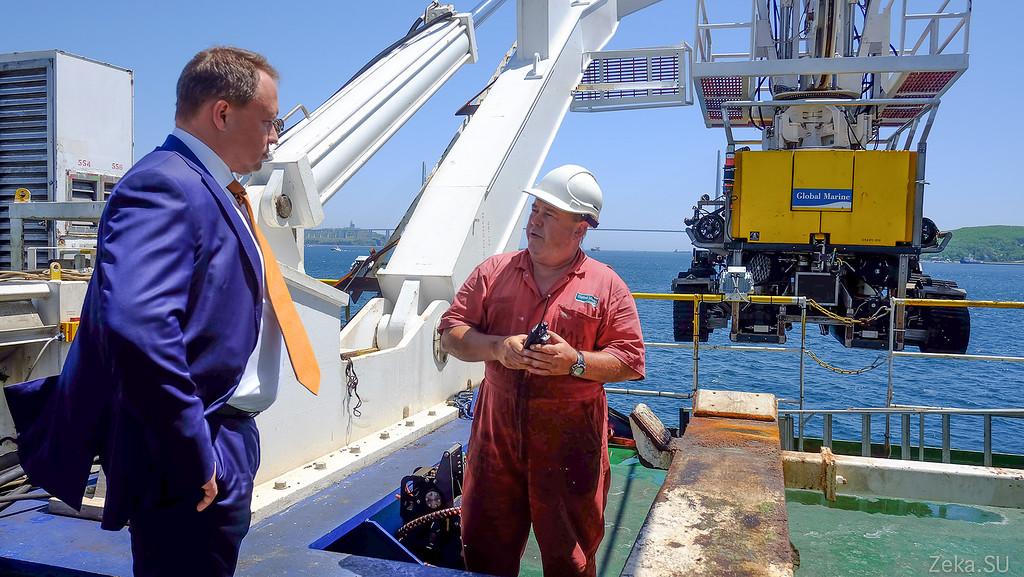 Строительство линии связи Камчатка – Сахалин – Магадан. Экскурсия на Cable Innovator — судно-кабелеукладчик - 90