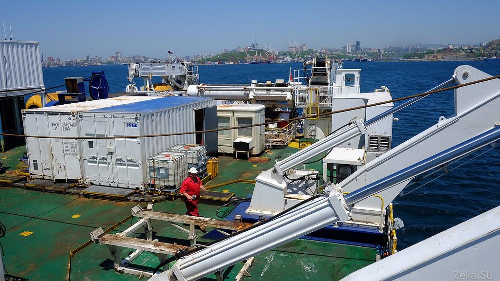 Строительство линии связи Камчатка – Сахалин – Магадан. Экскурсия на Cable Innovator — судно-кабелеукладчик - 91