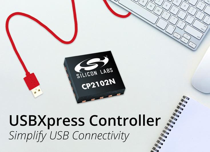 Миниатюрный контроллер Silicon Labs USBXpress CP2102N предназначен для встраиваемой электроники