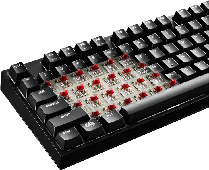В клавиатурах Cooler Master MasterKeys Pro Intelligent White используются переключатели Cherry MX