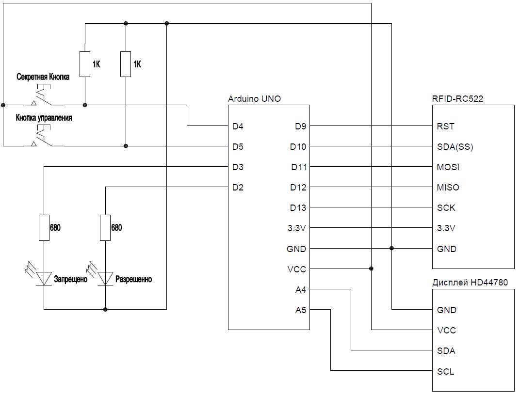 Создание системы ограничения доступа в программе FLProg с применением RFID-RC522 - 3