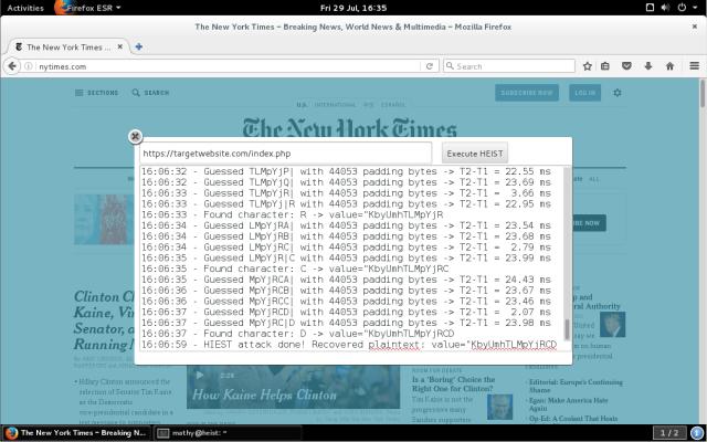 HEIST позволяет получить зашифрованную информацию в HTTPS канале в виде открытого текста - 1