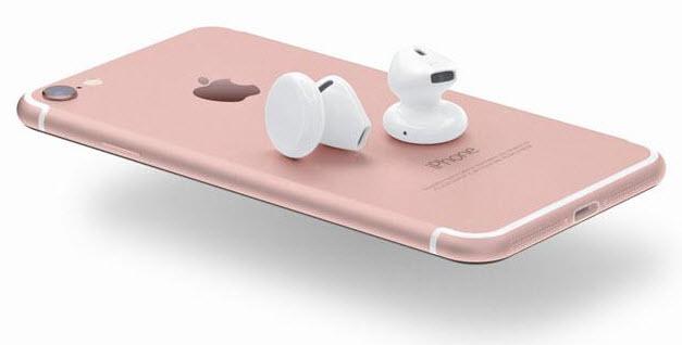Беспроводные наушники Apple AirPods могут появиться на рынке вместе с новым iPhone