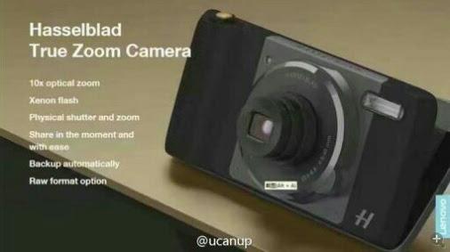 Аксессуар True Zoom Camera для смартфона Moto Z предложит 10-кратный оптический зум и ксеноновую вспышку