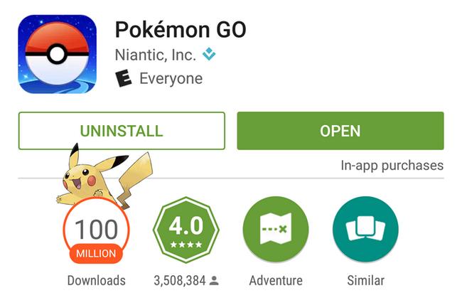 Pokemon GO за месяц принесла создателям $200 млн