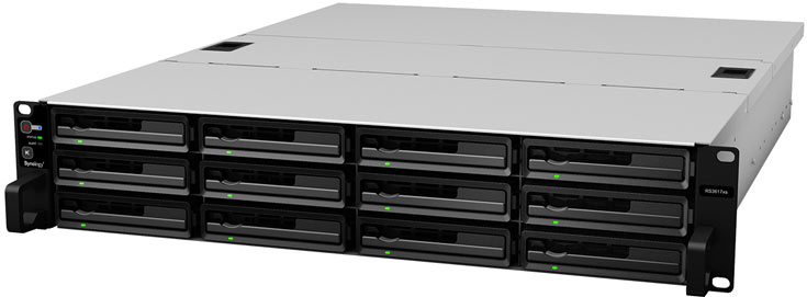 NAS Synology RackStation RS3617xs подойдет для надежного централизованного хранения данных