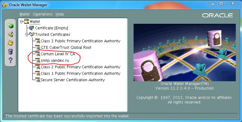 По следам «спамера» или Oracle DB + UTL_SMTP + SSL-TLS - 5