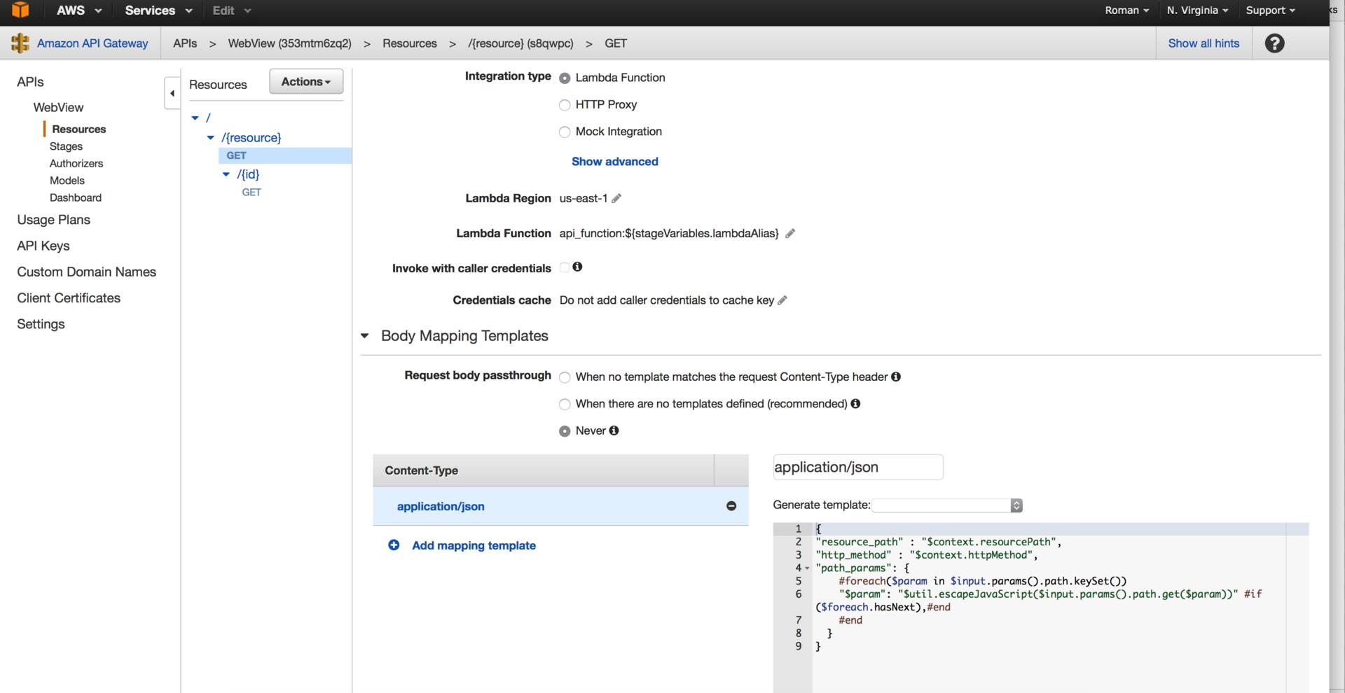 Создание WebView приложения на базе AWS ApiGateway и AWS Lambda - 5