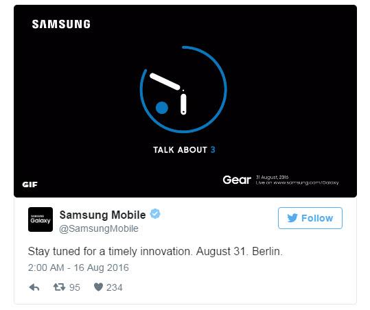 Анонс умных часов Samsung Gear S3 перенесли на 31 августа