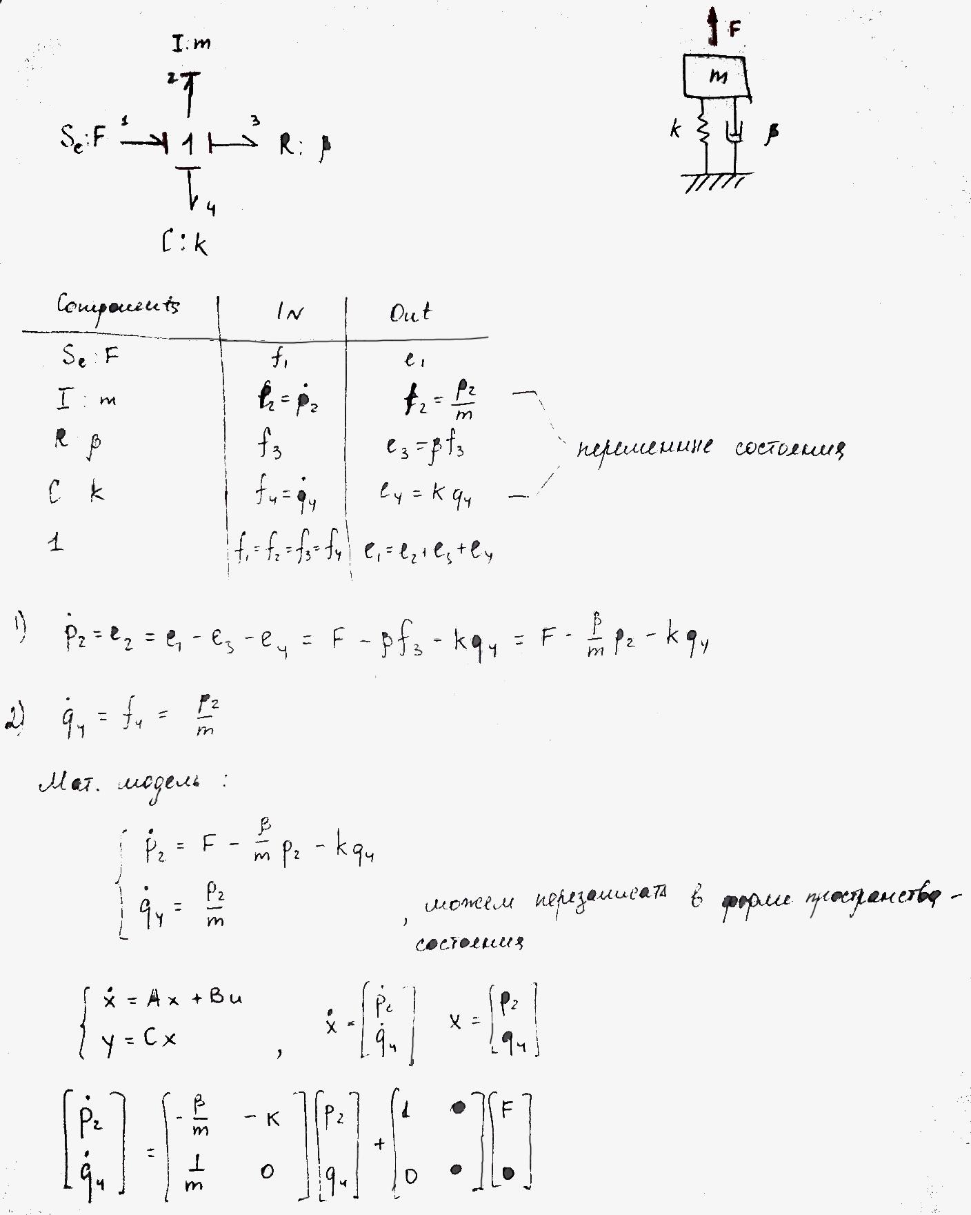 Моделирование динамических систем (метод Лагранжа и Bond graph approach) - 65