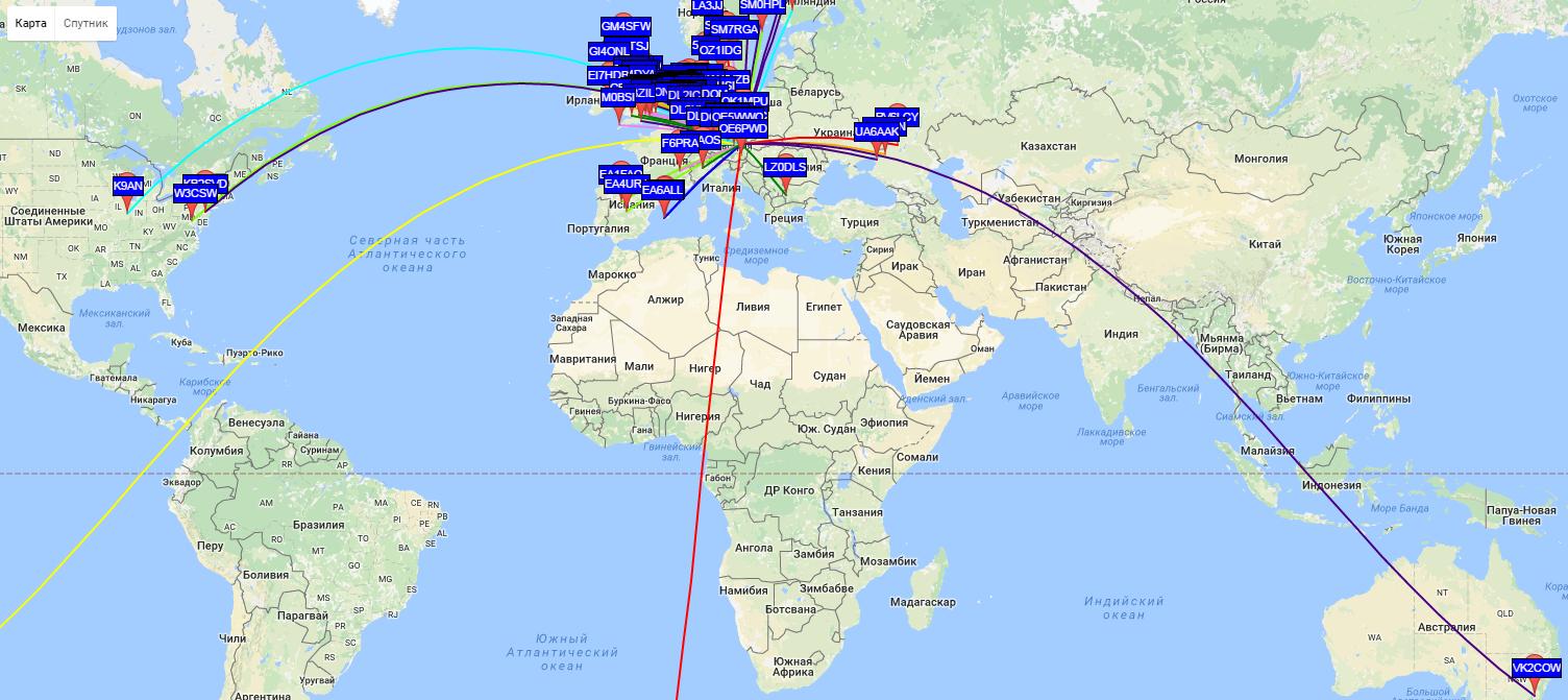 Немного о WSPR, или как далеко можно передать сигнал мощностью 1Вт? - 7
